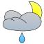 Leichte Regenschauer
