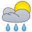 Starke Regenschauer